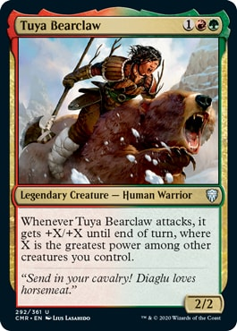 Tuya Bearclaw Commander Legends All Cards