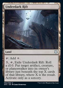 Underdark Rift Forgotten Realms Commander Decklists