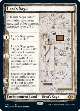 Urza's Saga Alternate Frame Modern Horizons 2 Collector Booster Contents
