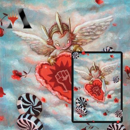 Secret Lair Arena Sleeves Valentine's Day 2021 Boros Charm Brandi Milne