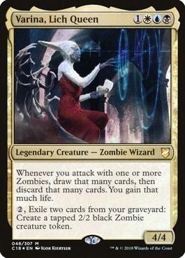 Varina Lich Queen Zombie Commander Tribal
