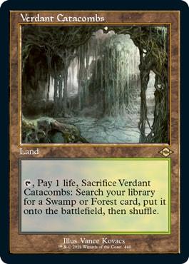 Verdant Catacombs Old Frame Fetch Lands Modern Horizons 2