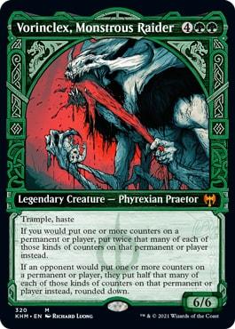 Vorinclex Monstrous Raider Kaldheim Showcase Cards