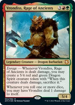 Vrondiss Rage of Ancients DND Commander Decks Decklists Precons