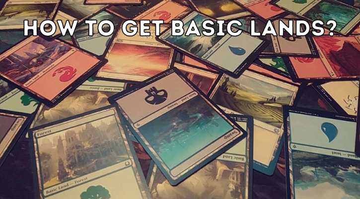 Where How to Get MTG Basic Lands Banner