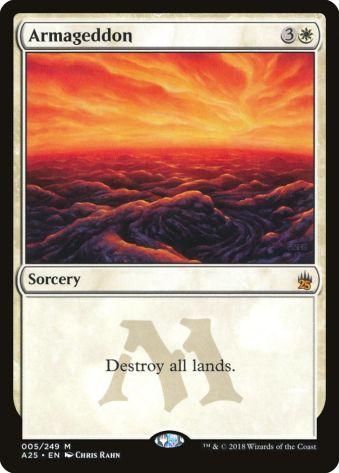 White Commander Cards Armageddon
