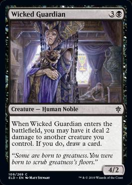 Wicked Guardian Win Throne Of Eldraine Draft