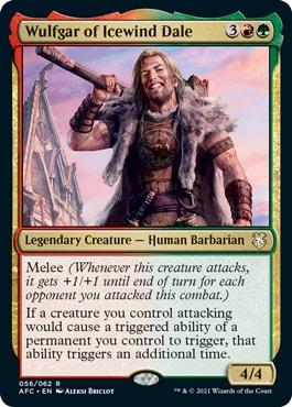 Wulfgar of Icewind Dale Forgotten Realms Commander Decklists