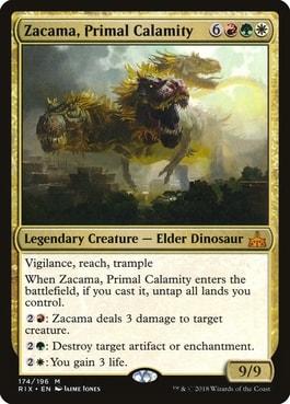 Zacama Primal Calamity Best Tribal Dinosaur Commanders