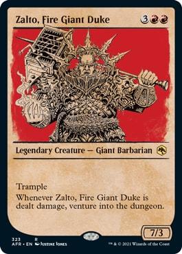Zalto, Fire Giant Duke MTG DND Rulebook Styles