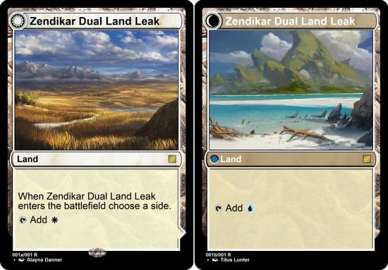 Zendikar Rising Dual Land Leak