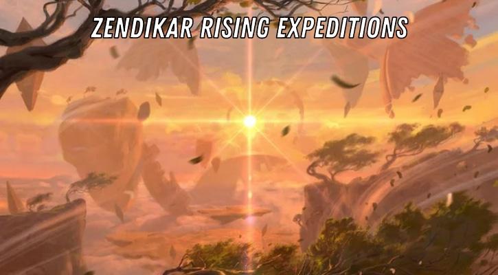 Zendikar Rising Expeditions List Banner