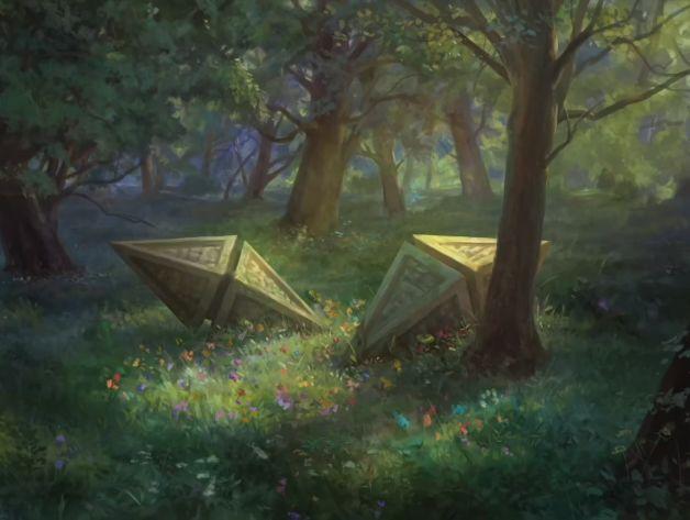 Zendikar Rising Full Art Basic Forest Art