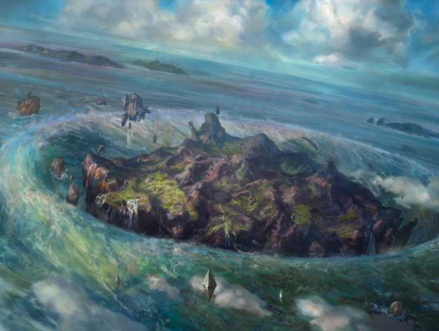 Zendikar Rising Full Art Basic Island Art