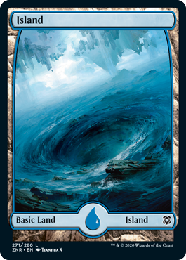 Zendikar-Rising-Full-Art-Basic-Land-Island