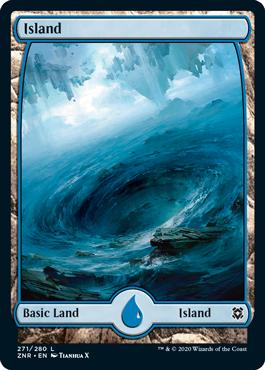Zendikar-Rising-Full-Art-Basic-Land-Island