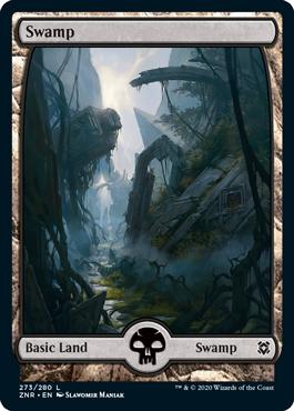 Zendikar-Rising-Full-Art-Basic-Land-Swamp