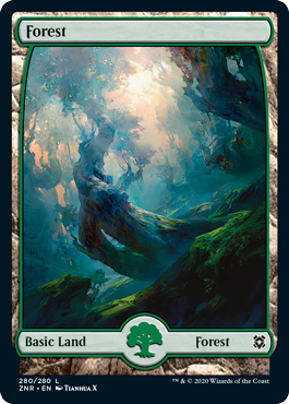 Zendikar-Rising-Full-Art-Lands-Forest