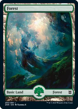 Zendikar-Rising-Full-Art-Lands-Forest