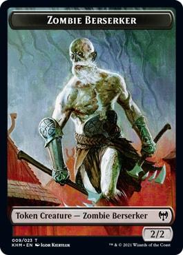 Zombie Berserker List of All Kaldheim Tokens